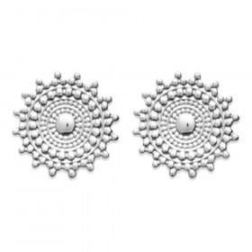 Paire de Boucles d'oreilles rondes en Argent 925