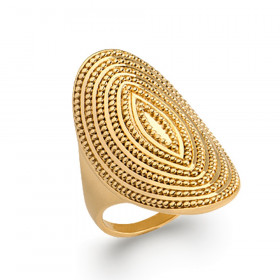 Bague Bohème doré femme plaqué or ovale