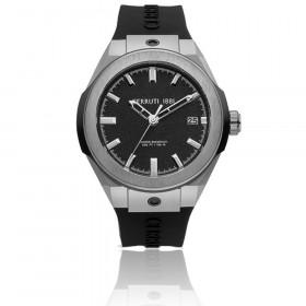 Montre Cerruti noire pour Hommes bracelet silicone CRA29001