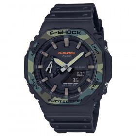 Casio pour des Hommes Analogique-numérique Quartz Montre avec Bracelet en Résine GA-2100SU-1AER