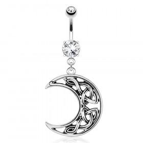 Piercing nombril lune arabesque