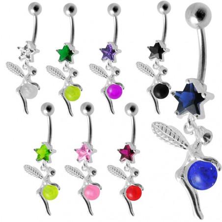 Piercing nombril fée pendante avec étoile