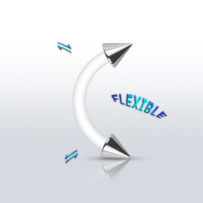 Piercing arcade PTFE flexible spike acier chirurgical