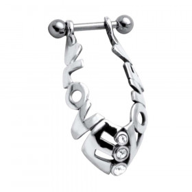 Piercing hélix bague oreille love