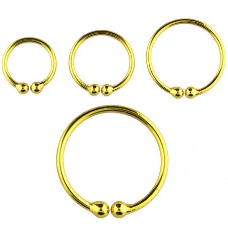 Faux piercing anneau plaqué or