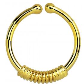 Faux piercing anneau doré ressort