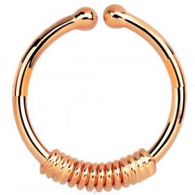 Faux anneau de piercing or rose fil torsadé