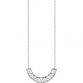 Collier en Argent 925 pendentif demi cercle 45cm