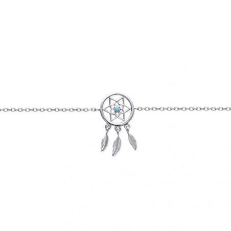Bracelet en Argent 925 Attrape rêve 18cm