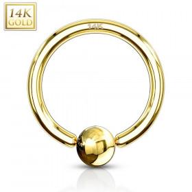 anneau de piercing en or 14 carats pour nombril capuchon téton