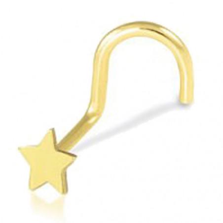 Piercing Stud nez or jaune 18K étoile