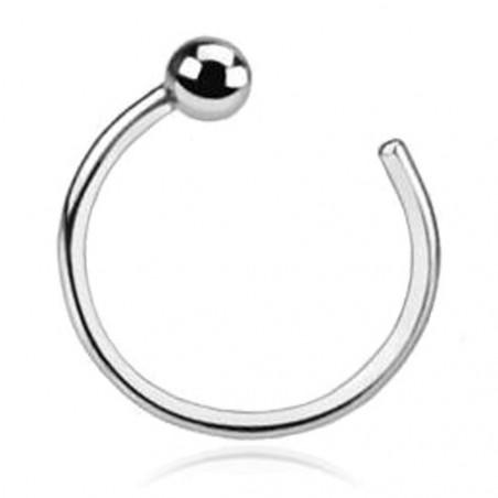 Piercing anneau de nez Or blanc 14 carats