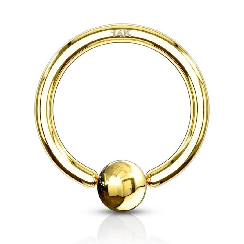 anneau piercing fin en or pour le nez