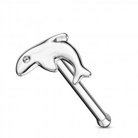 stud nez droit or blanc dauphin