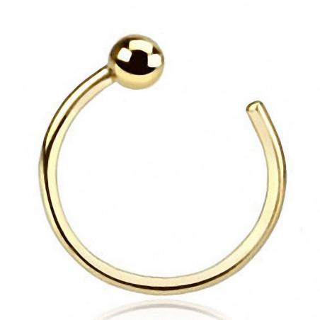 Piercing anneau de nez Or jaune 14 carats