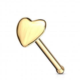 piercing narine cœur or jaune
