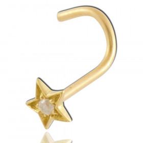 piercing narine diamant étoile or 18 carats