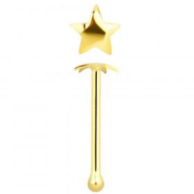 piercing nez étoile or 14 carats