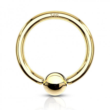 Anneau piercing or 14 carats 1,6 mm