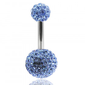 piercing nombril cristal swarovski bleu ciel