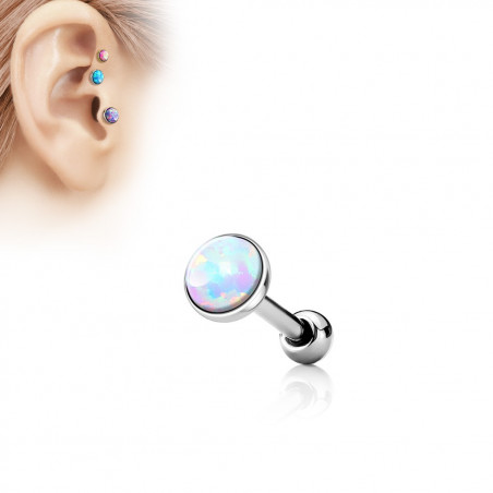 Piercing oreille opale Blanche