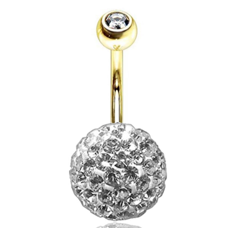 piercing nombril luxe Swarovski