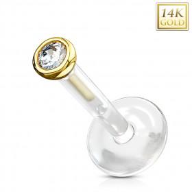 piercing labret or et bioflex