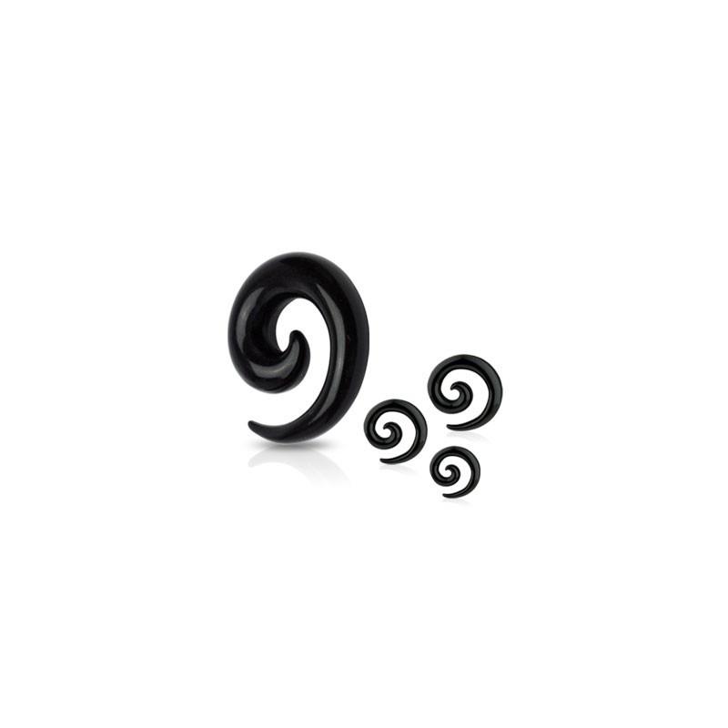 Expendeur spirale acrylique noir