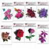 Pack 8 tatouages temporaire fleurs réaliste couleur marque Tarawa taille 7cm par 10 cm waterproof