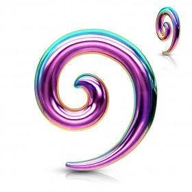 Expender spirale acier chirurgical 316L couleur arc en ciel