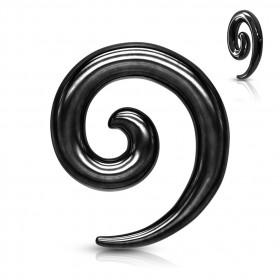 Expender spirale acier chirurgical 316L couleur Noir du 2 au 8mm