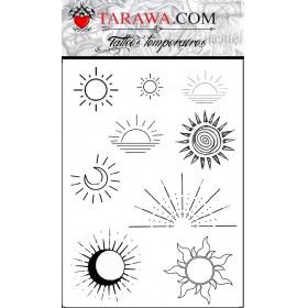 Tatouages petits soleils