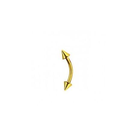 Piercing arcade titane doré spike 3mm