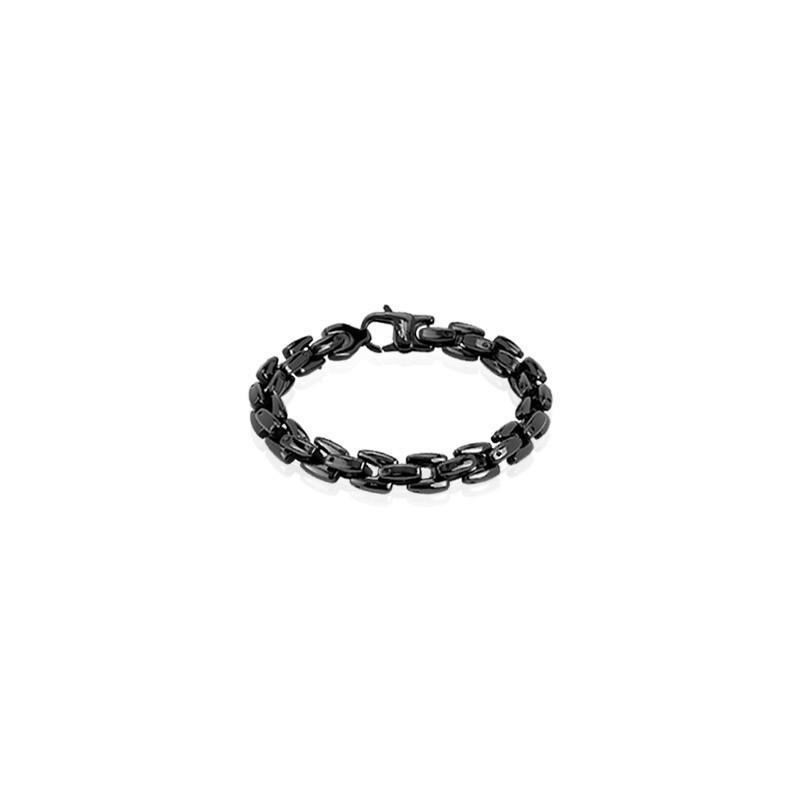 Bracelet rock pour homme en acier chirurgical inoxydable de couleur noir