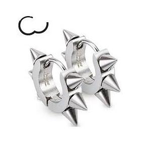 Boucles d'oreille en acier chirurgical motif pointe en acier inoxydable haute qualité