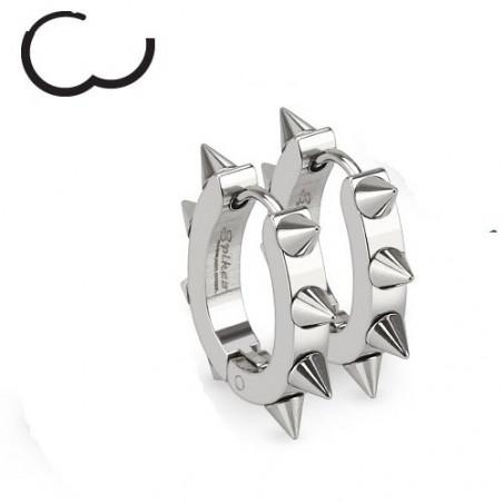 Boucles d'Oreille anneau à clip en acier chirurgical