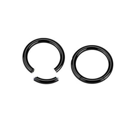 Piercing Anneau 1.2 mm segment en acier noir