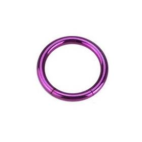 piercing anneau  segment 1.2 mm de diamètre en titane couleur violet
