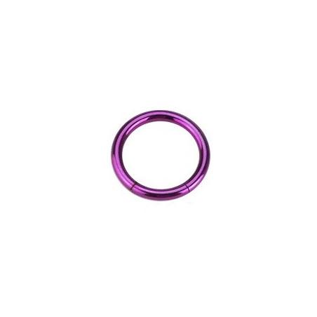Piercing Anneau 1.2 mm segment en acier violet