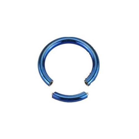 Piercing Anneau 1.2 mm segment en acier bleu