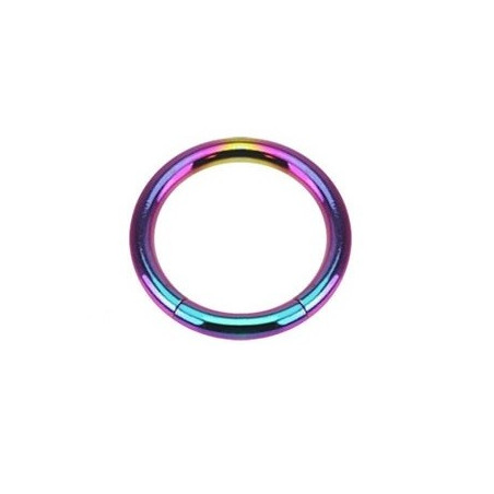 Piercing Anneau segment acier couleur Titane essence 1.6mm