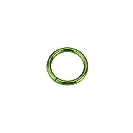 piercing Anneau segment 1.6 mm couleur vert