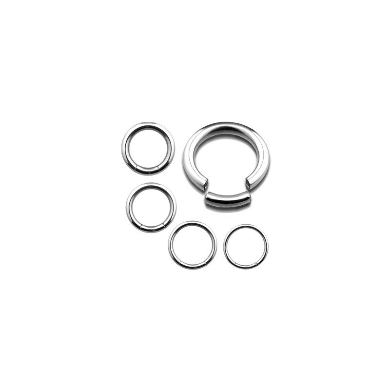 piercing anneau segment en acier chirurgical pour nombril piercing téton piercing intime piercing sexe féminin couleur acier