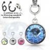 Add-on piercing interchangeable en cristal de couleur