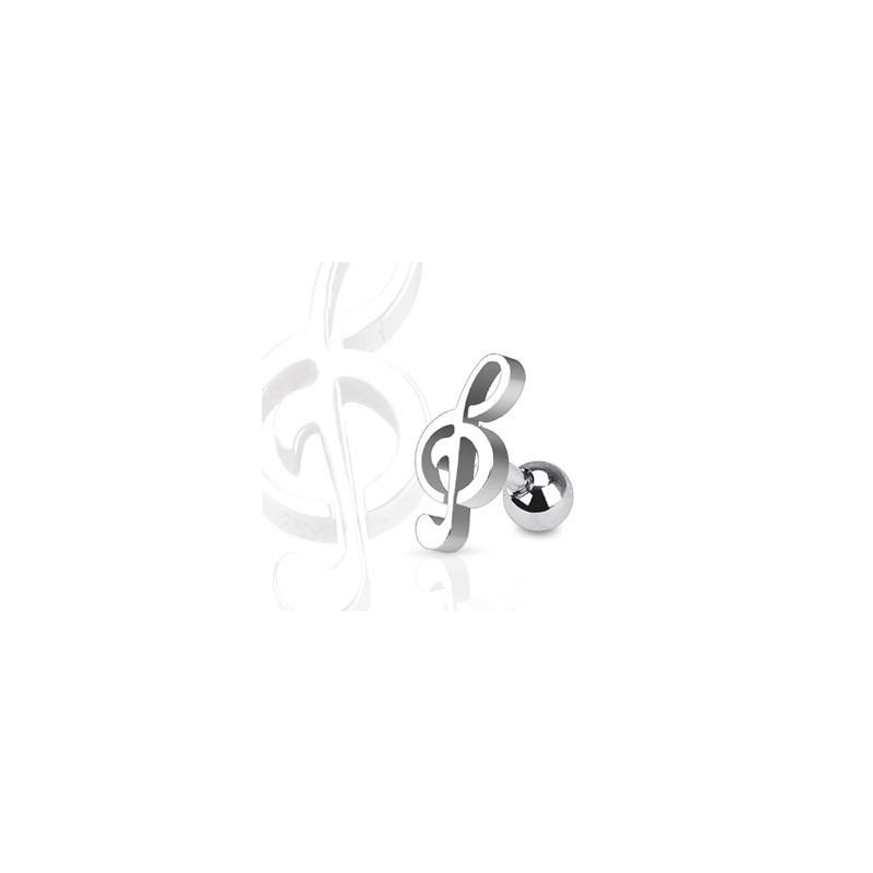 Piercing oreille motif clef de sol tragus cartilage piercing oreille en acier chirurgical de qualité