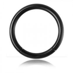 Piercing Anneau segment gros diamètre acier couleur noir