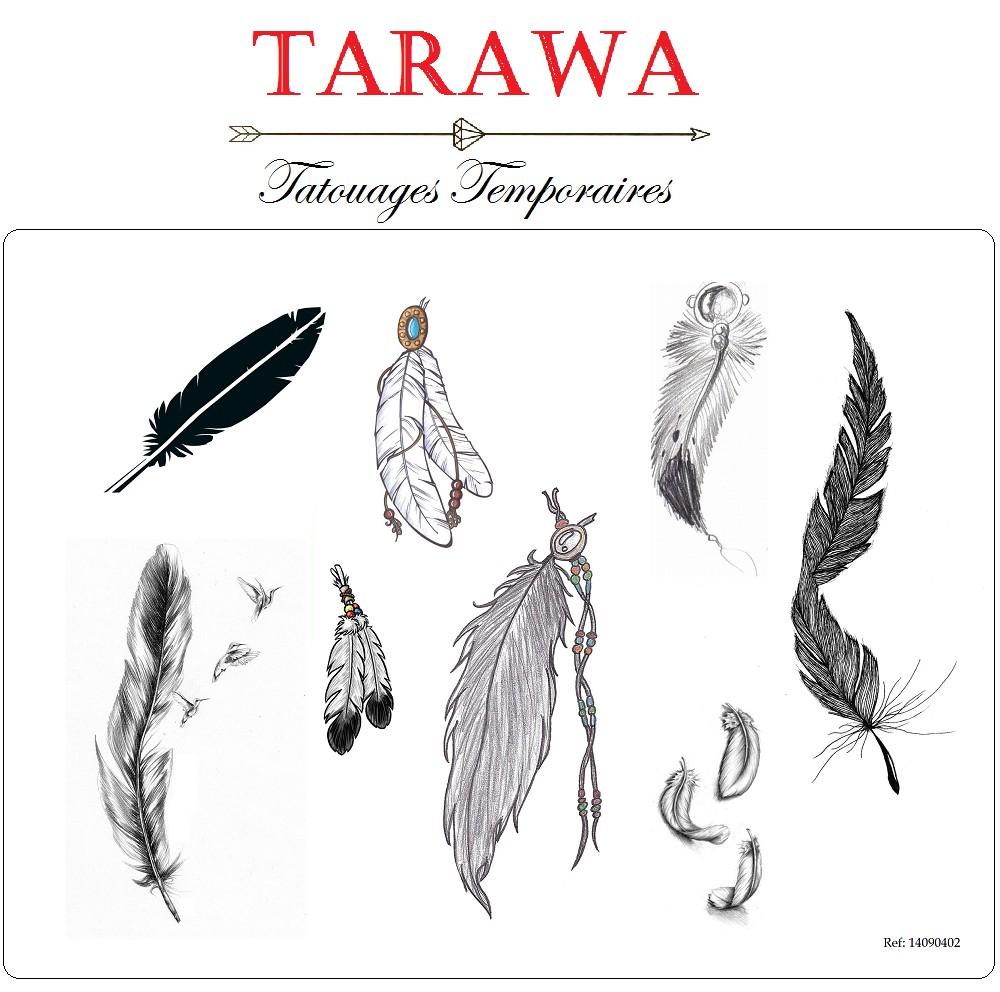 Tatouage Temporaire 8 Plume Tarawa Com
