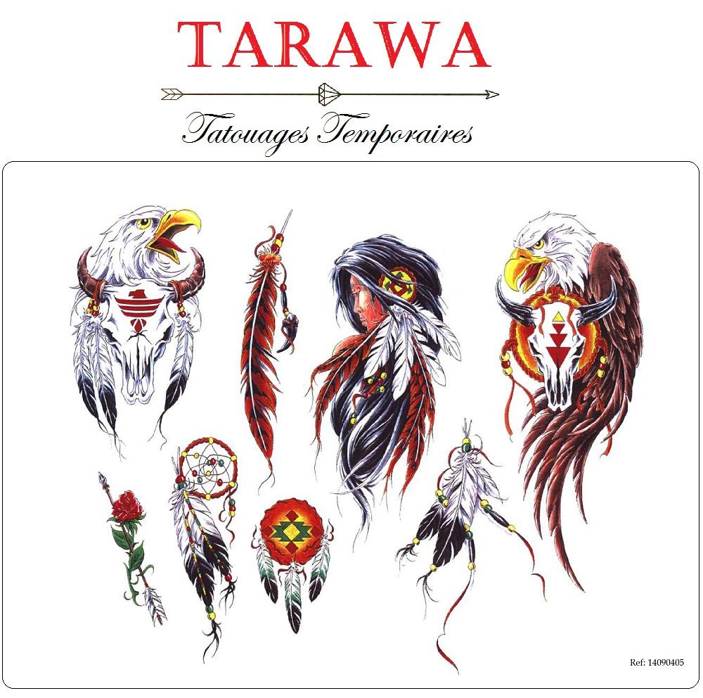 Tatouage tete de mort indien - Signification attrape reve tatouage ...