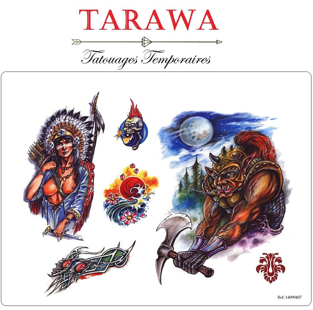 Tatouage Temporaire Sticker Indien