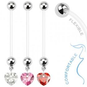 Piercing nombril de grossesse Coeur cristal